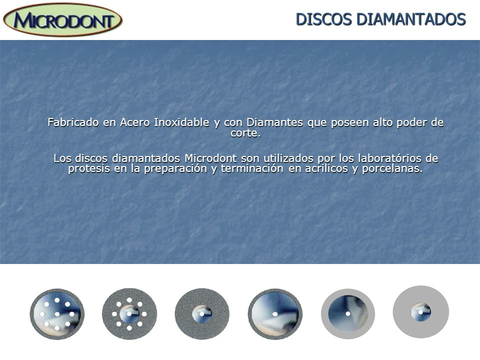 DISCOS DIAMANTADOSFabricado en Acero Inoxidable y con Diamantes que poseen alto poder de corte.