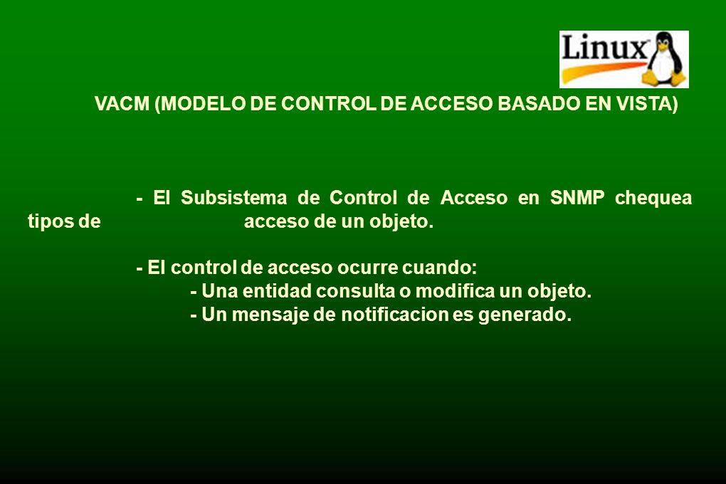 VACM (MODELO DE CONTROL DE ACCESO BASADO EN VISTA)