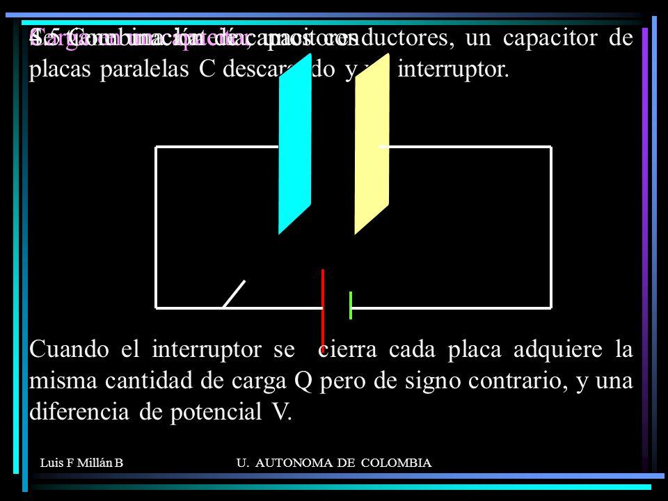 4.5 Combinación de capacitores