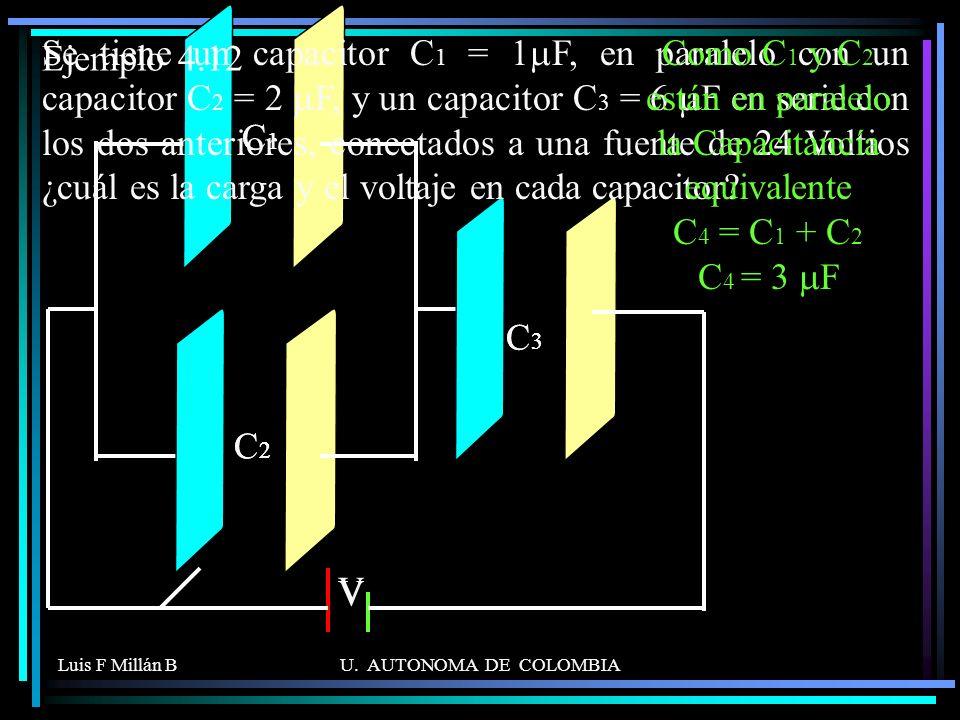 Ejemplo 4.12 C1. C2. C3. V. + - C1. C2. C3. V.