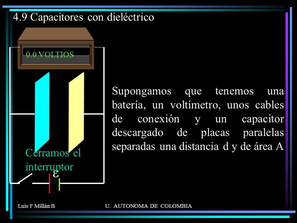 4.9 Capacitores con dieléctrico