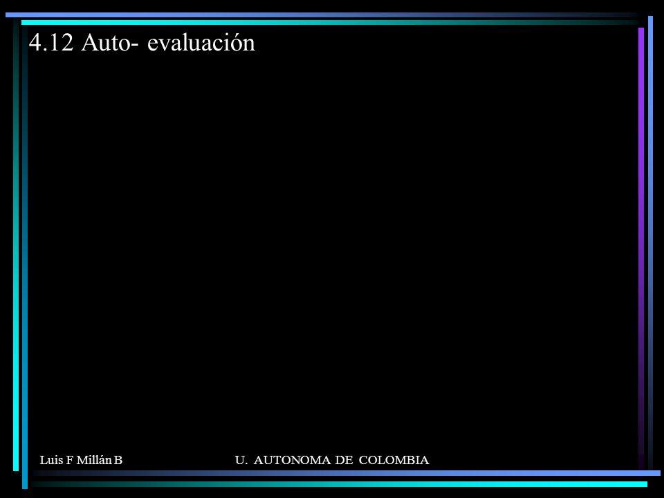 4.12 Auto- evaluación Luis F Millán B U. AUTONOMA DE COLOMBIA