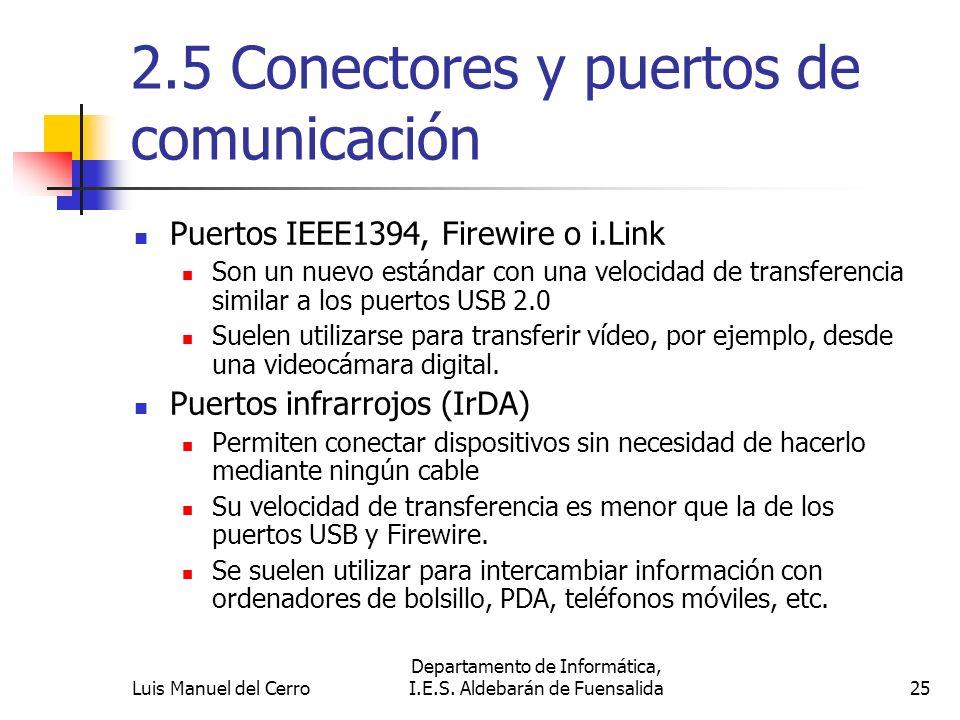 2.5 Conectores y puertos de comunicación