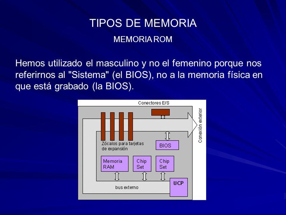 TIPOS DE MEMORIA MEMORIA ROM.
