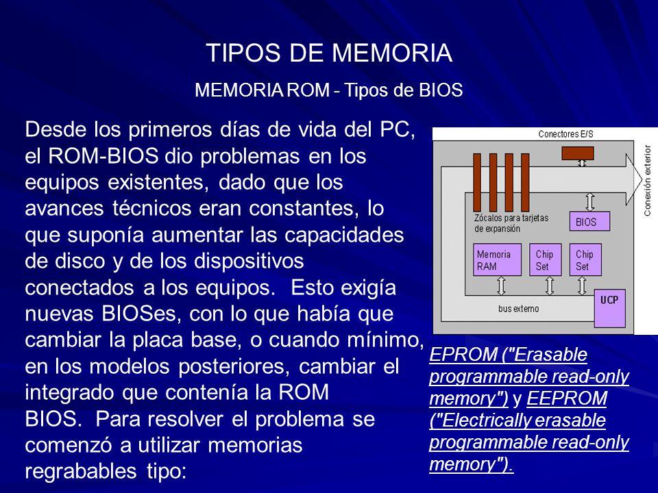 MEMORIA ROM - Tipos de BIOS