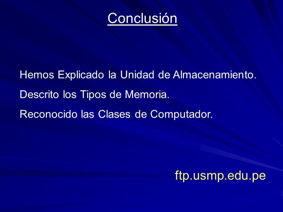 Conclusión ftp.usmp.edu.pe