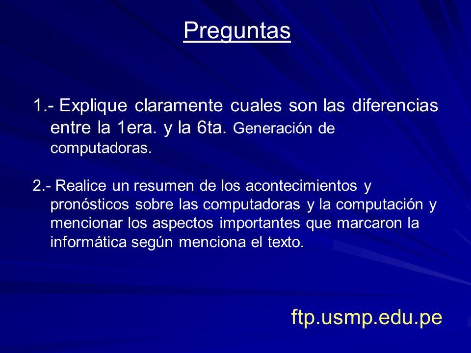 Preguntas ftp.usmp.edu.pe