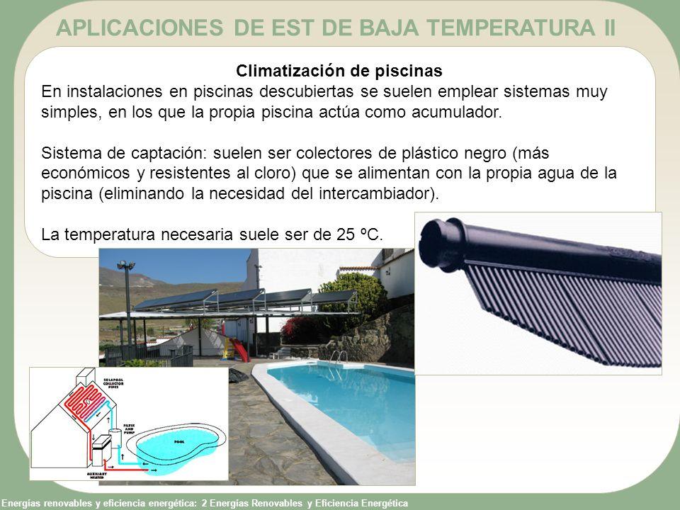 APLICACIONES DE EST DE BAJA TEMPERATURA II Climatización de piscinas