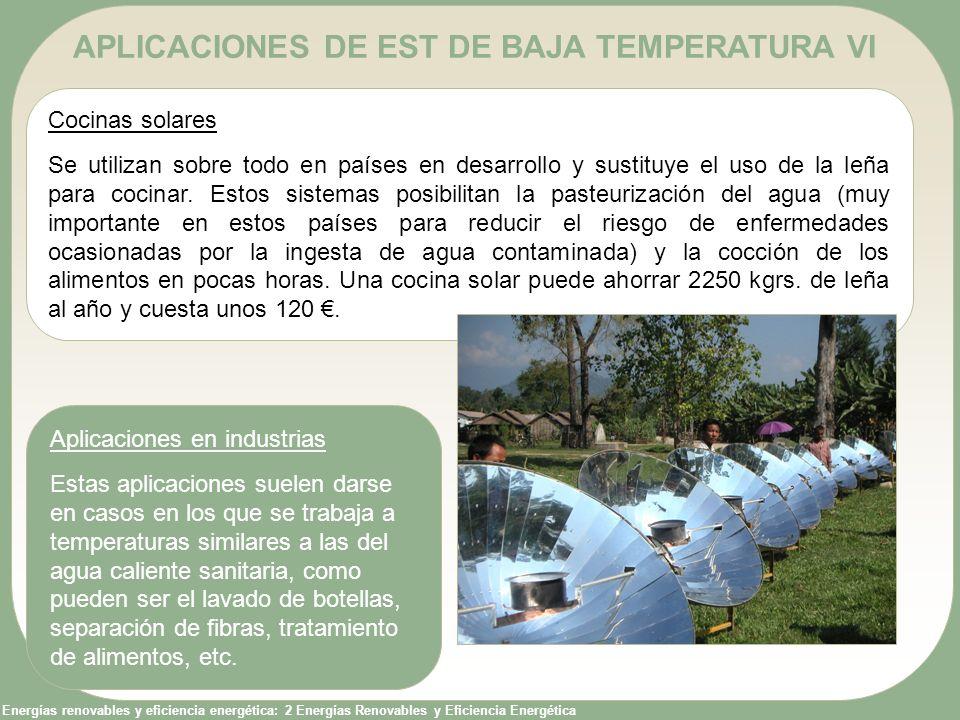 APLICACIONES DE EST DE BAJA TEMPERATURA VI
