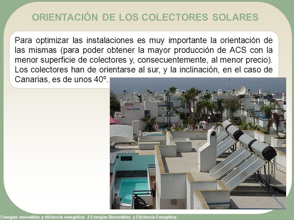 ORIENTACIÓN DE LOS COLECTORES SOLARES