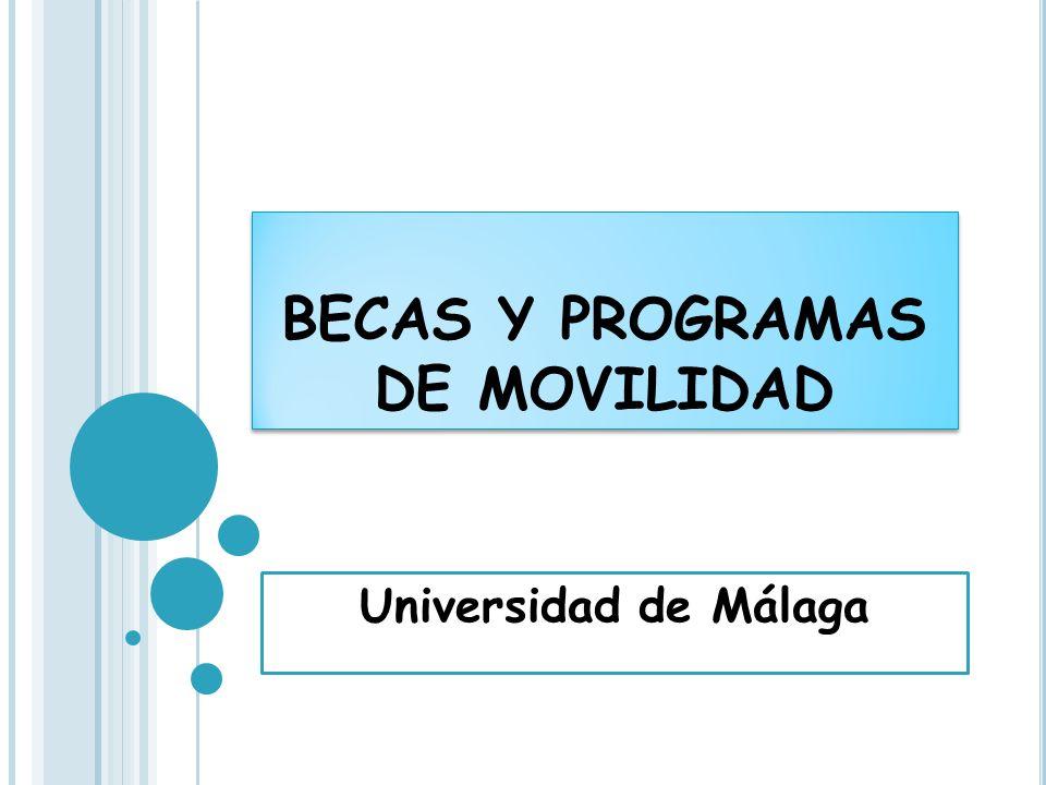 BECAS Y PROGRAMAS DE MOVILIDAD