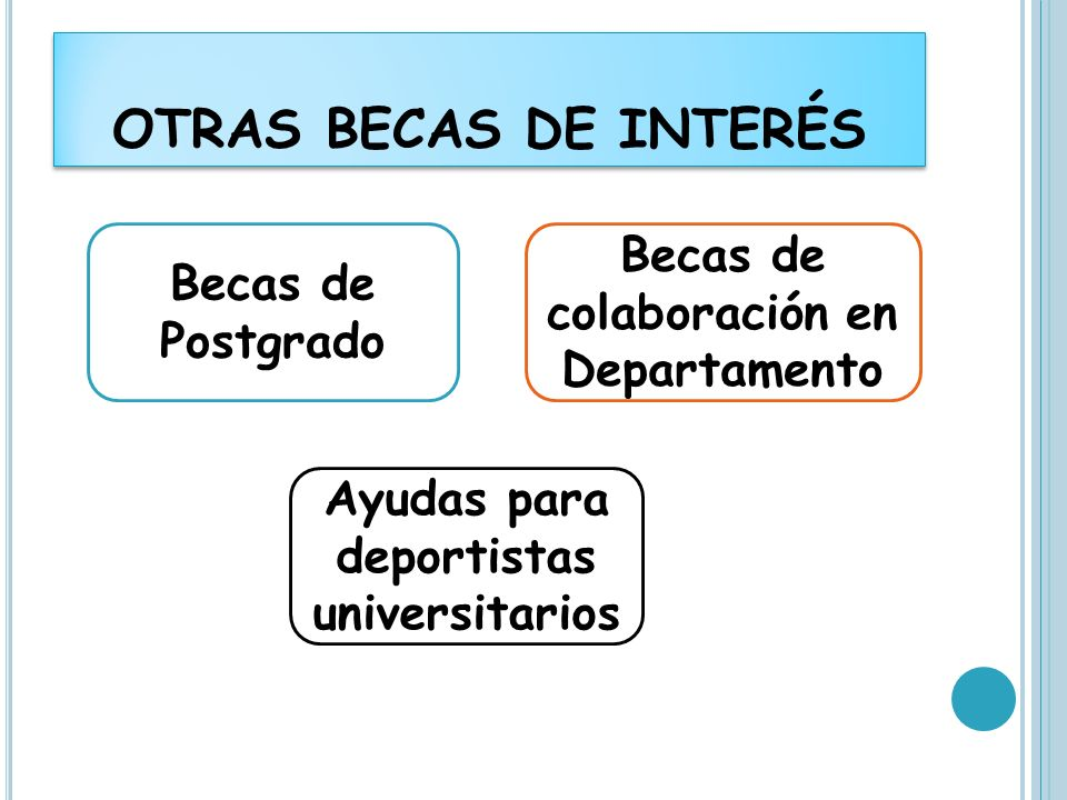 OTRAS BECAS DE INTERÉS Becas de colaboración en Departamento