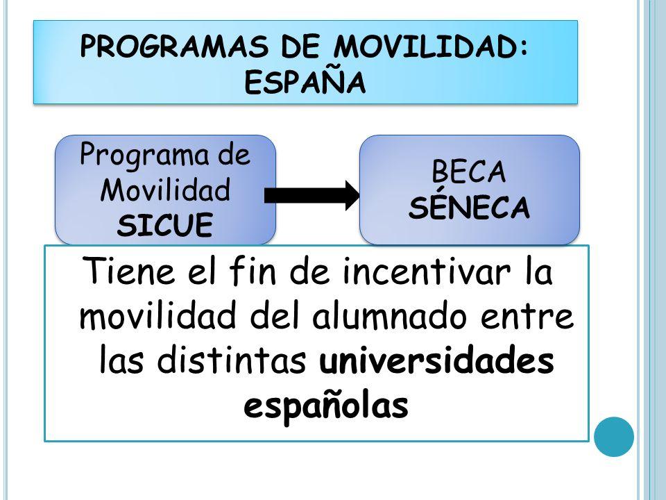 PROGRAMAS DE MOVILIDAD: ESPAÑA