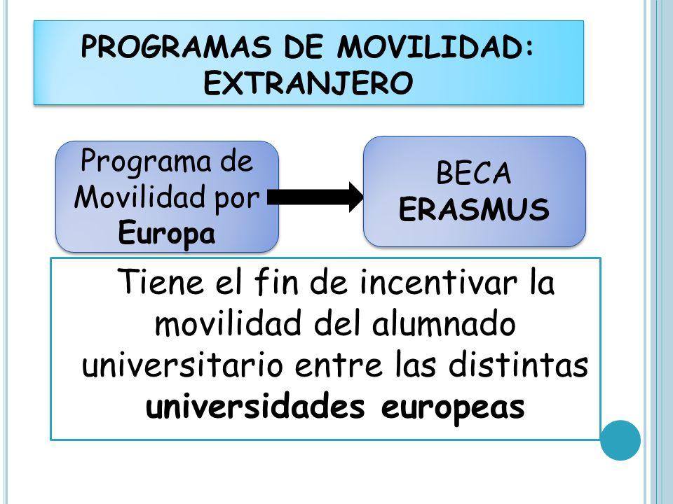 PROGRAMAS DE MOVILIDAD: EXTRANJERO