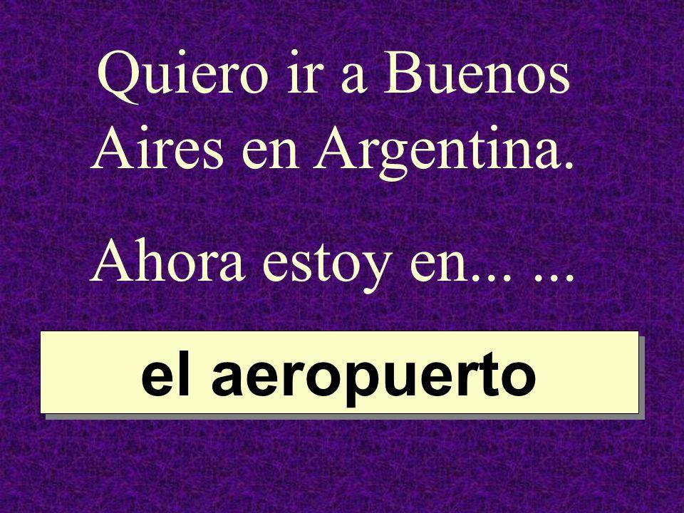 Quiero ir a Buenos Aires en Argentina.