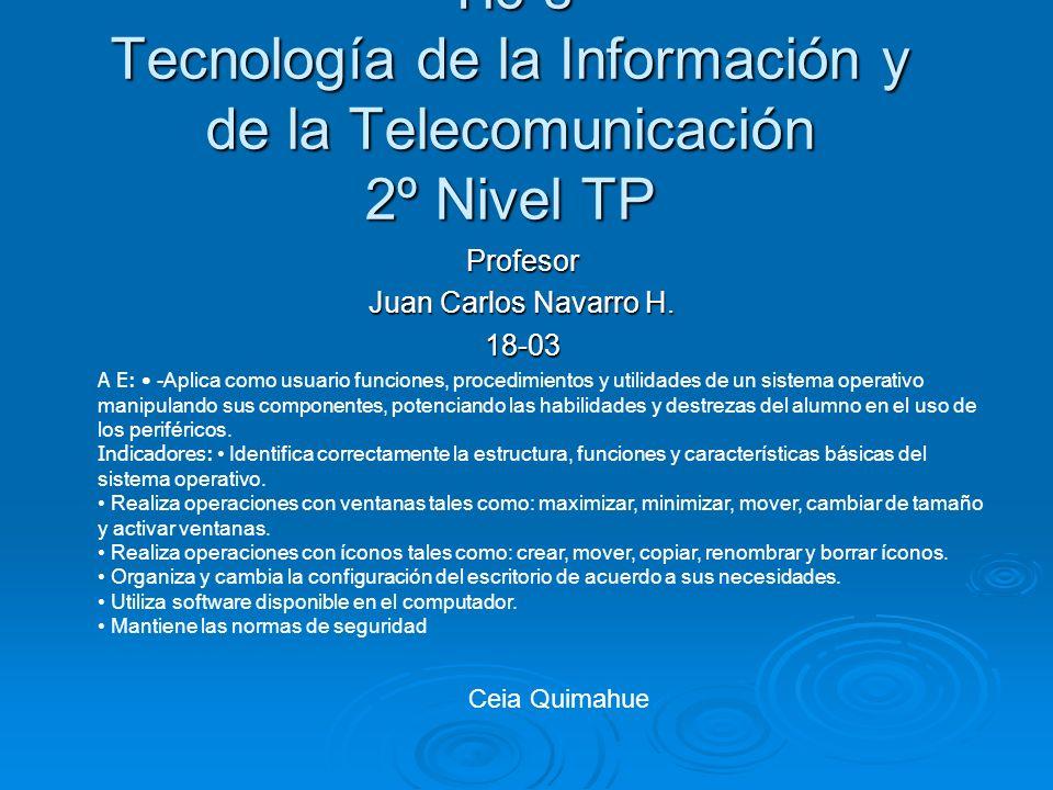 Profesor Juan Carlos Navarro H. 18-03