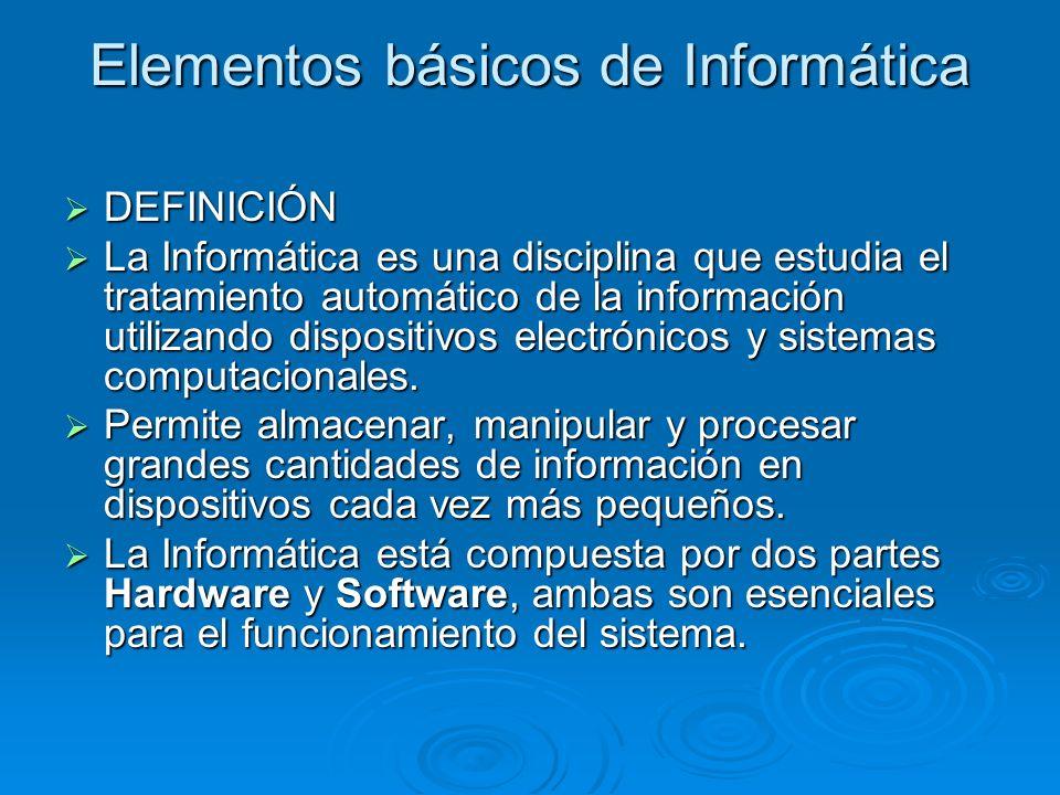 Elementos básicos de Informática