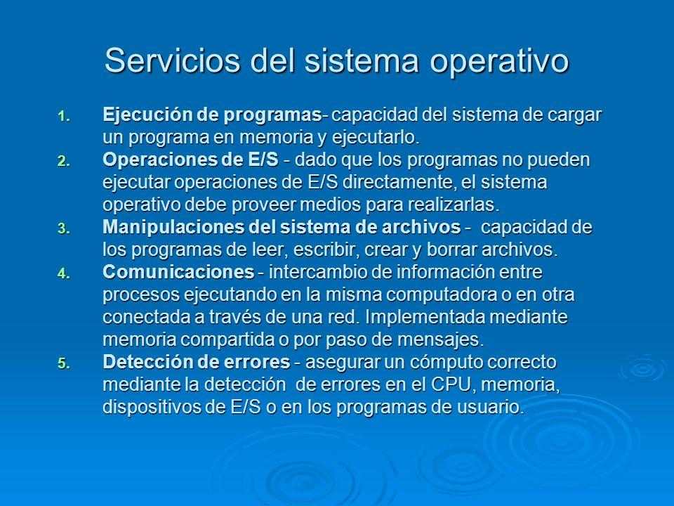 Servicios del sistema operativo