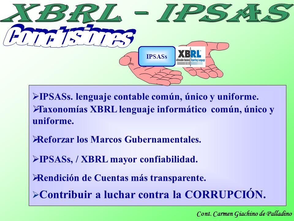 Conclusiones IPSASs. lenguaje contable común, único y uniforme.