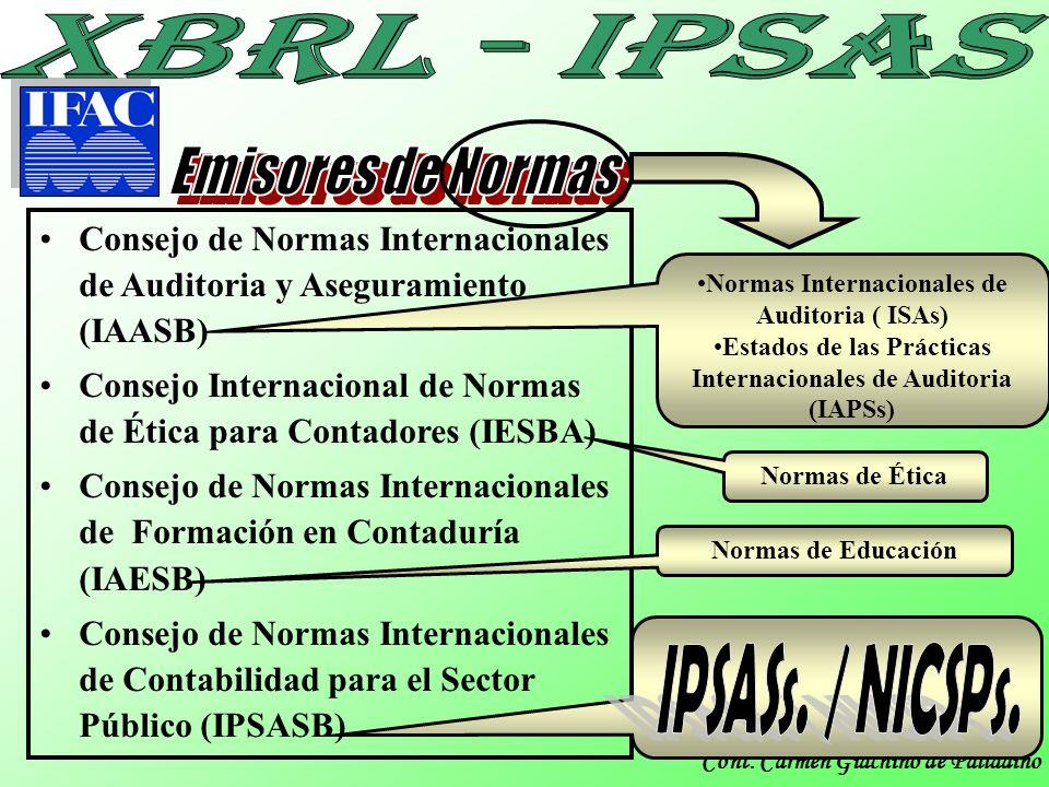 IPSASs. / NICSPs. Emisores de Normas