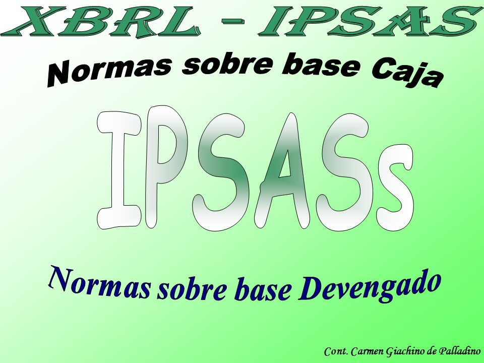 Normas sobre base Devengado