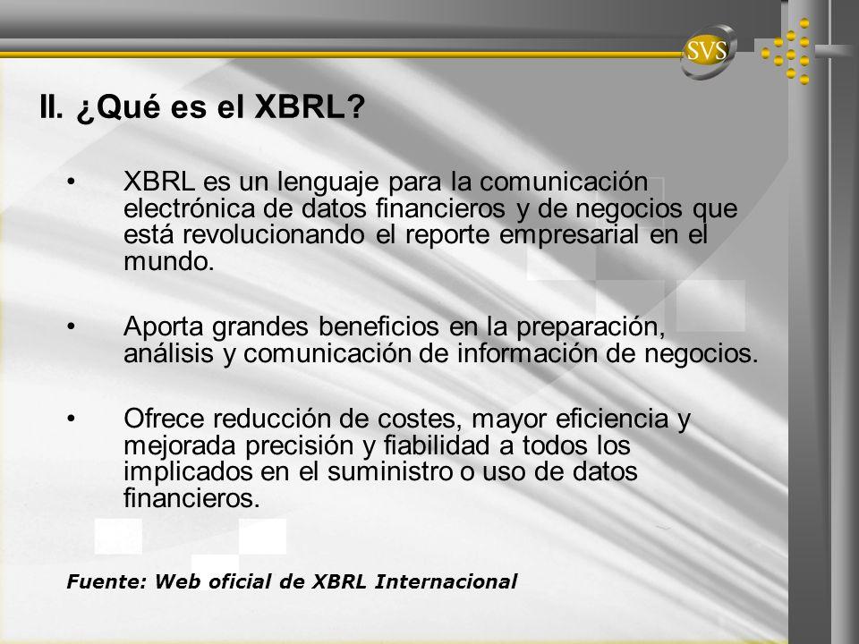 II. ¿Qué es el XBRL