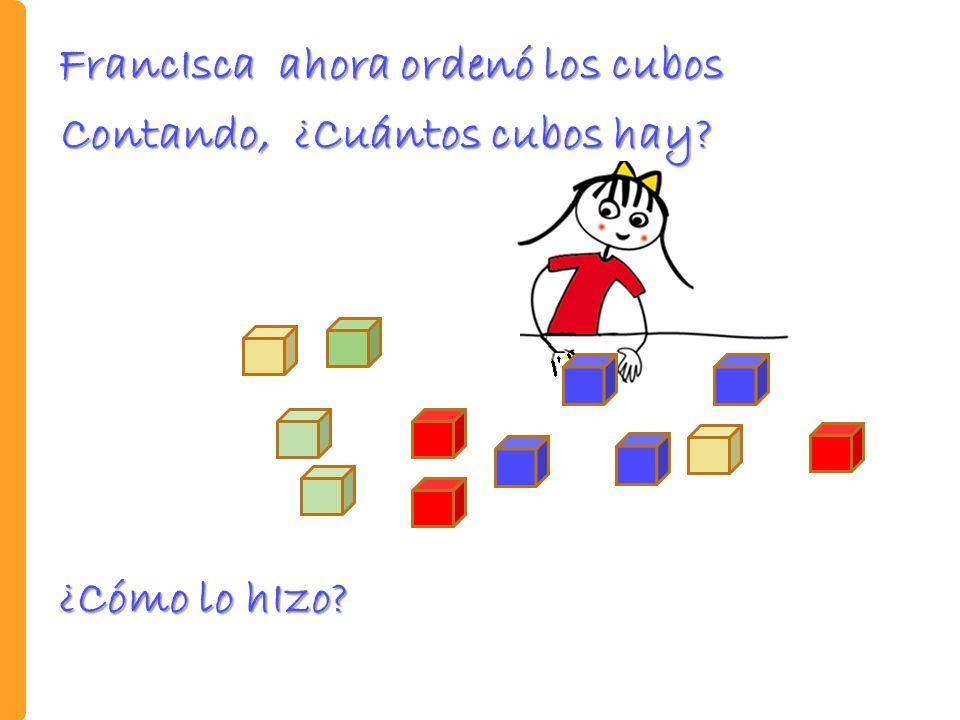 FrancIsca ahora ordenó los cubos