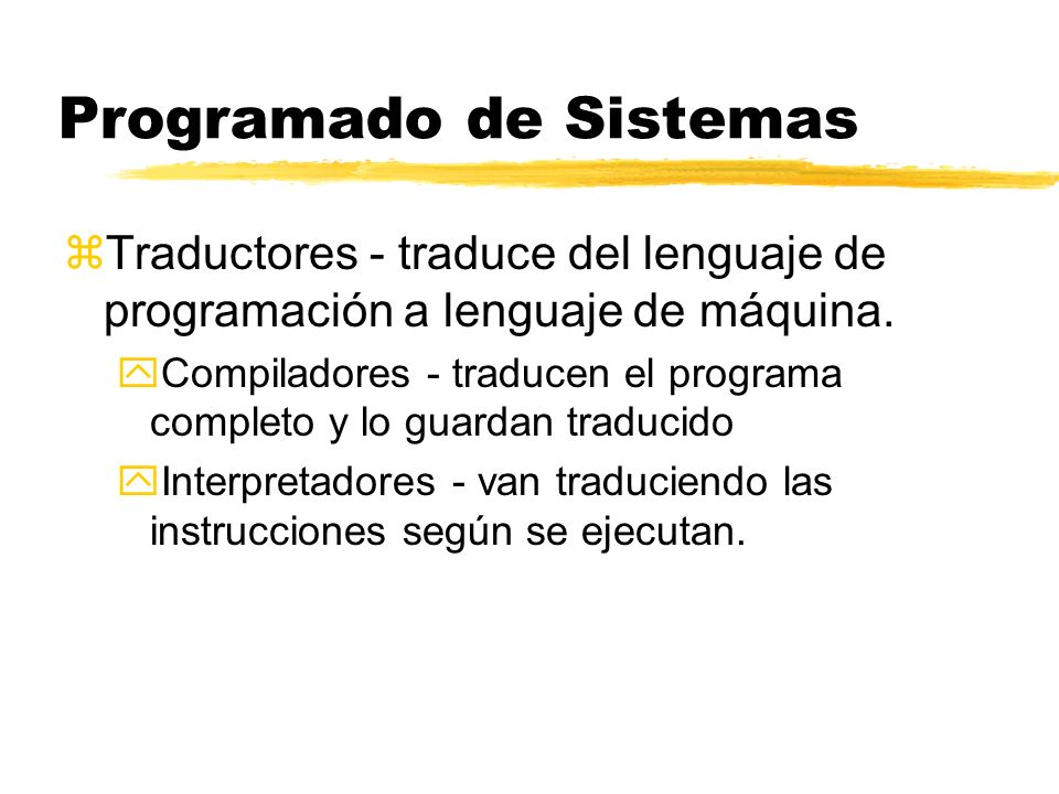 Programado de Sistemas