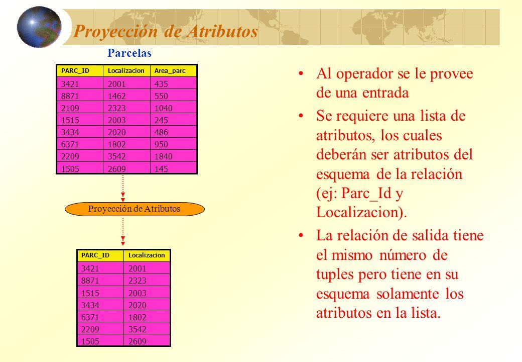 Proyección de Atributos