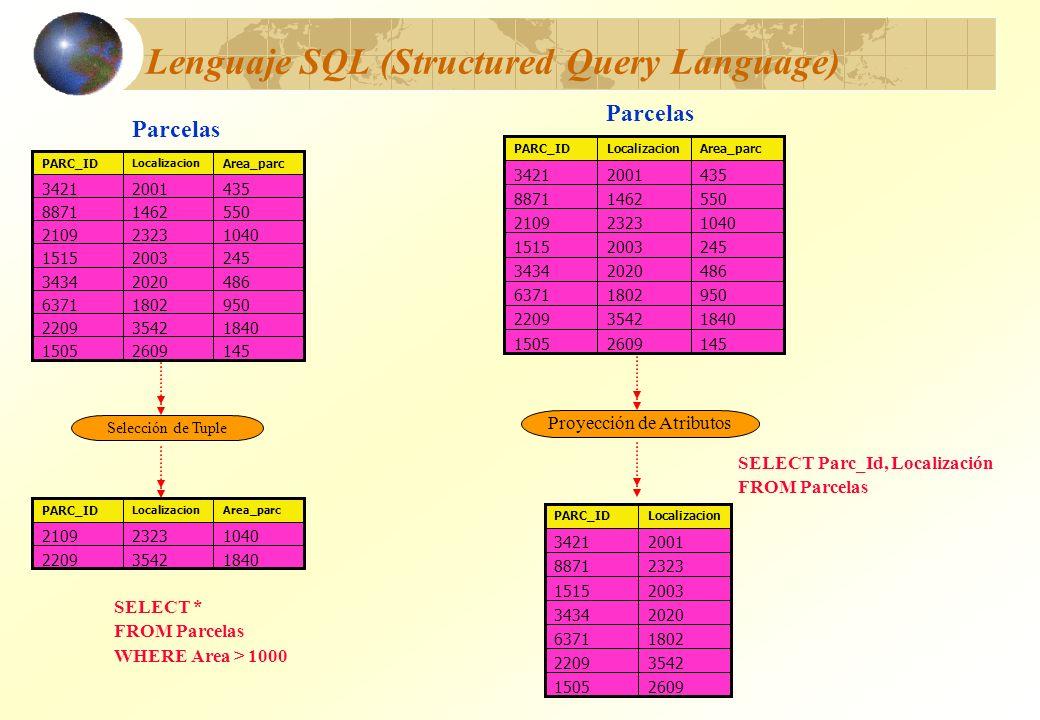 Lenguaje SQL (Structured Query Language)