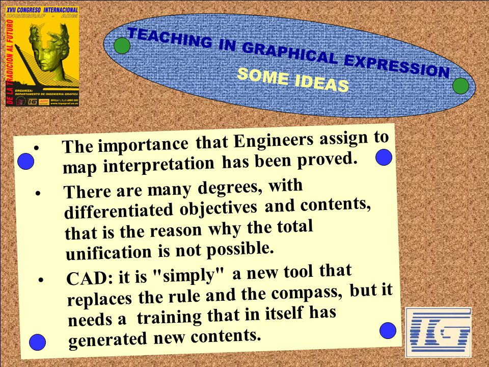 SOME IDEASThe importance that Engineers assign to map interpretation has been proved.