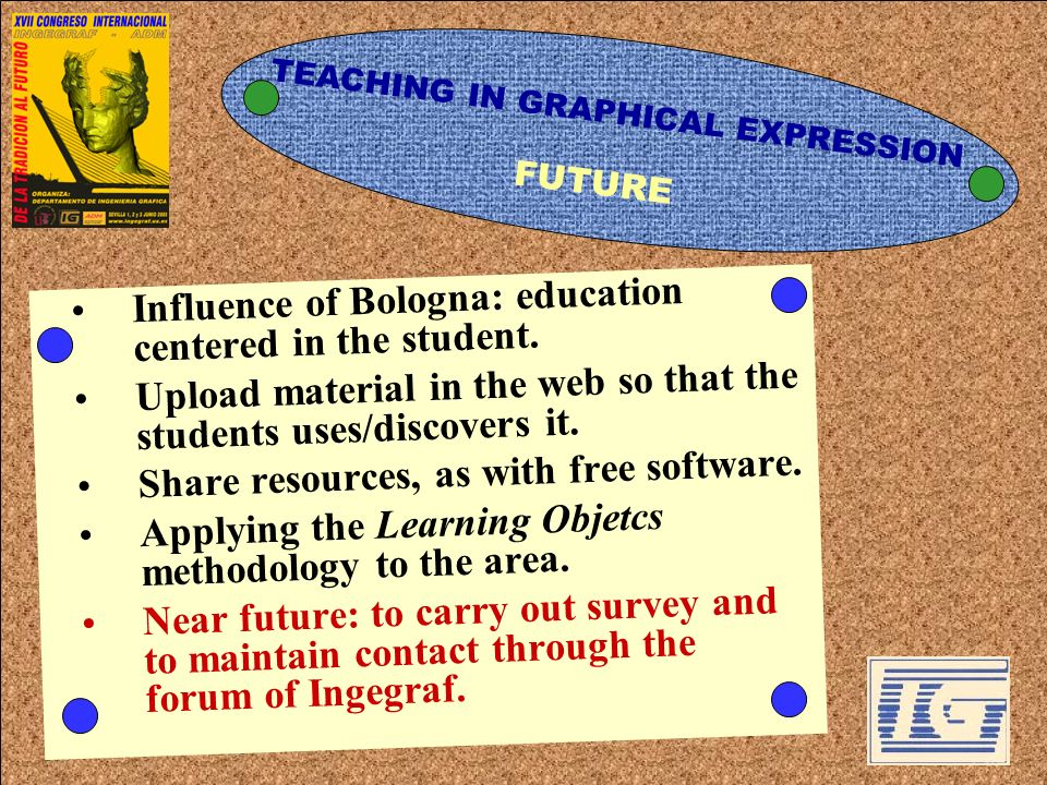 Influence of Bologna: education centered in the student.