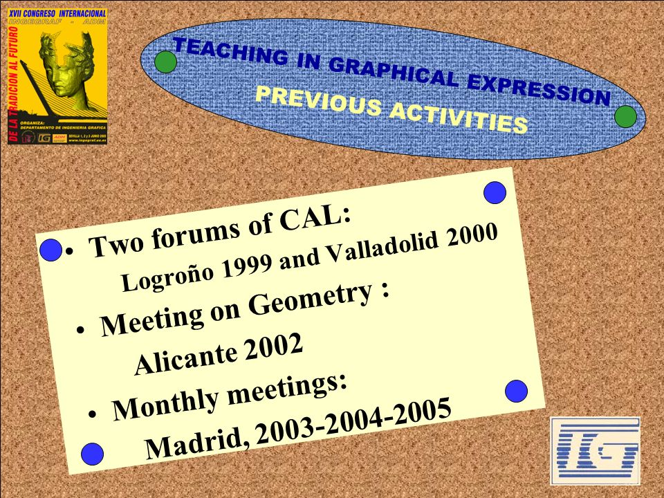 Two forums of CAL: Meeting on Geometry : Alicante 2002