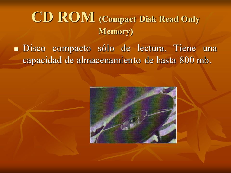CD ROM (Compact Disk Read Only Memory)