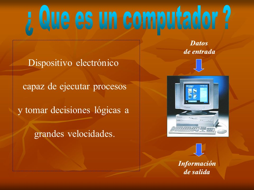 ¿ Que es un computador Dispositivo electrónico