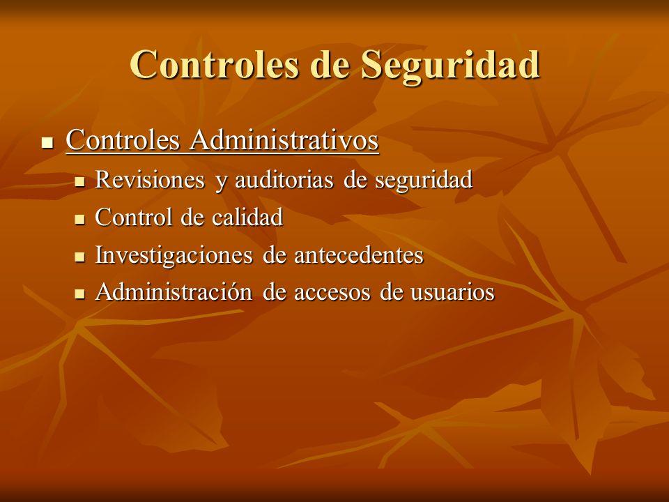 Controles de Seguridad