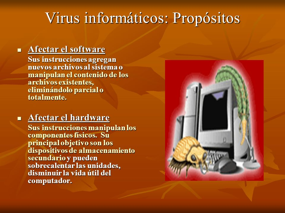 Virus informáticos: Propósitos