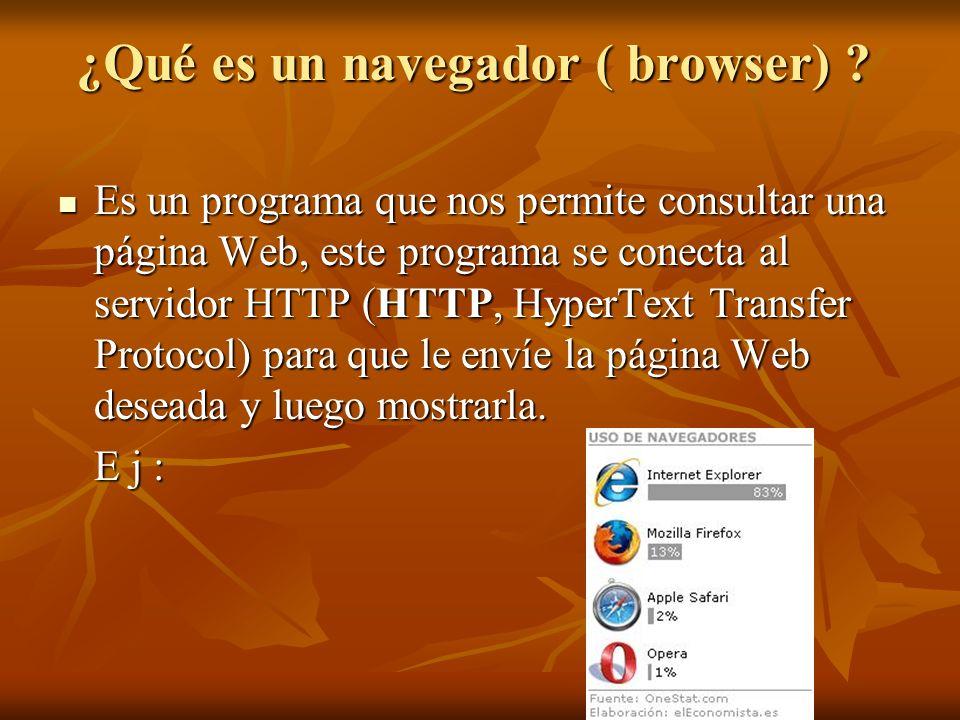 ¿Qué es un navegador ( browser)