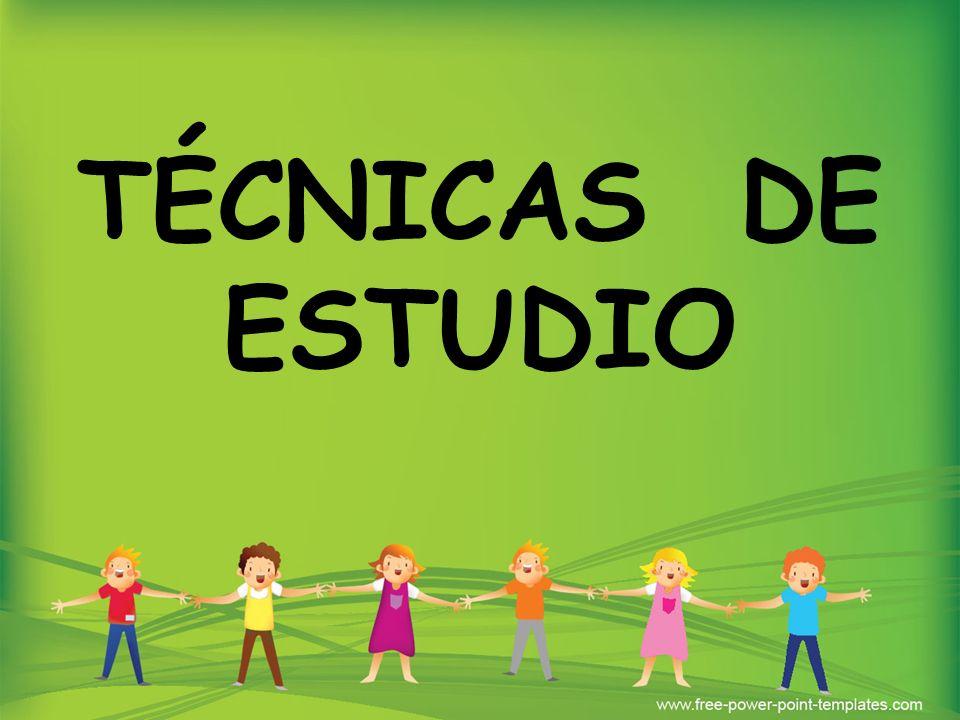 TÉCNICAS DE ESTUDIO 1