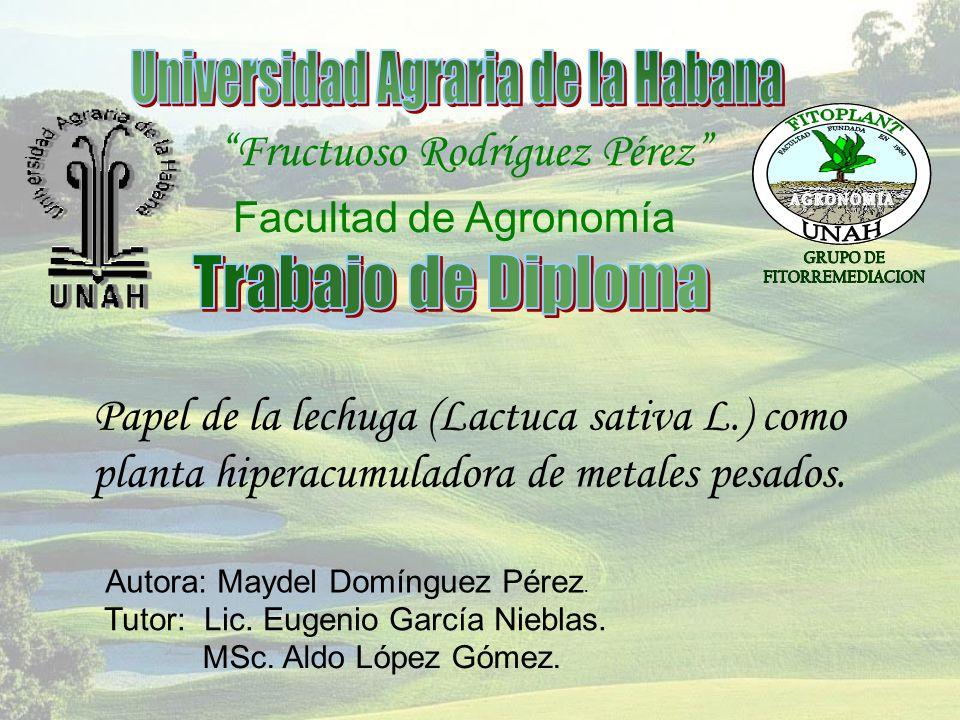Universidad Agraria de la Habana Fructuoso Rodríguez Pérez