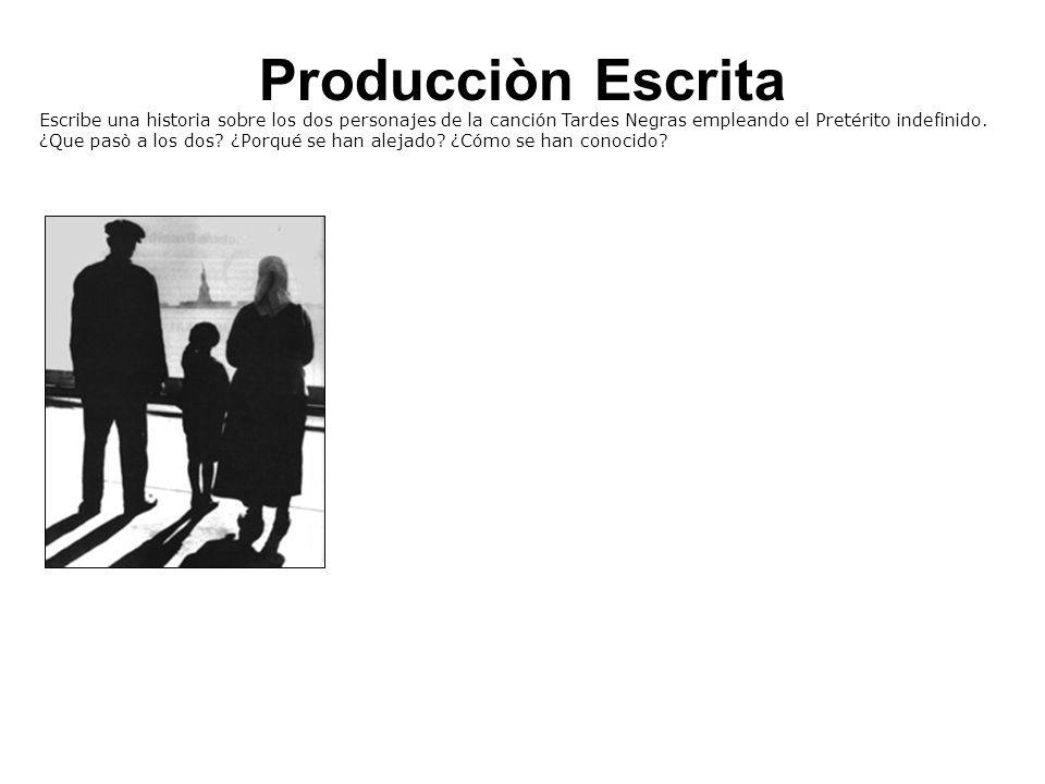 Producciòn Escrita