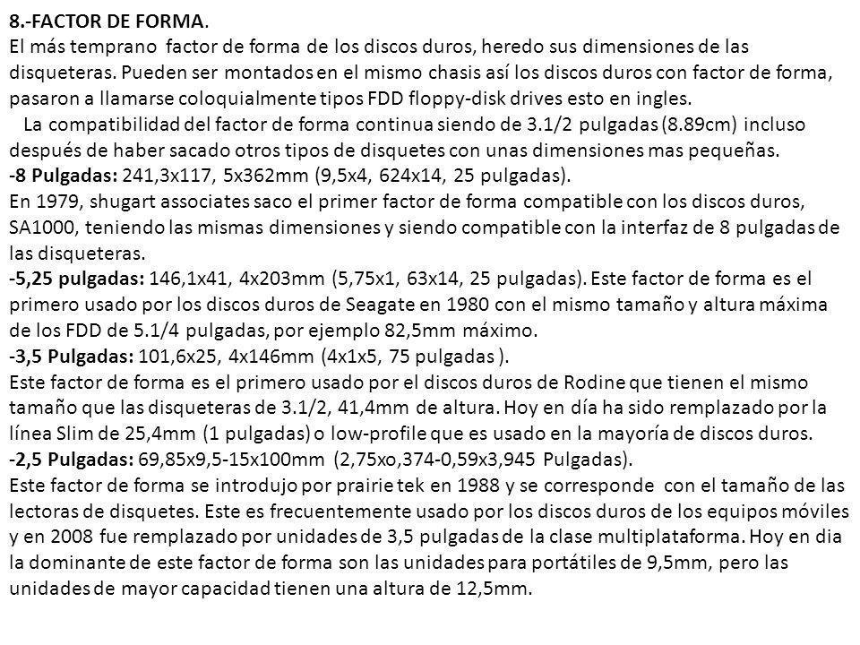 8.-FACTOR DE FORMA.