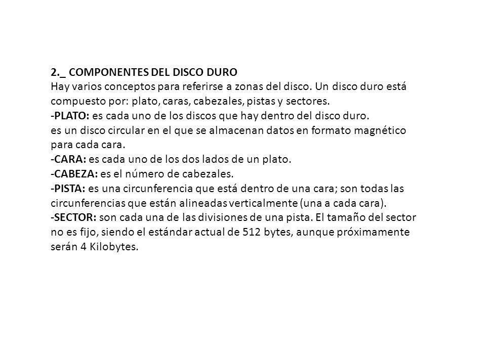 2._ COMPONENTES DEL DISCO DURO