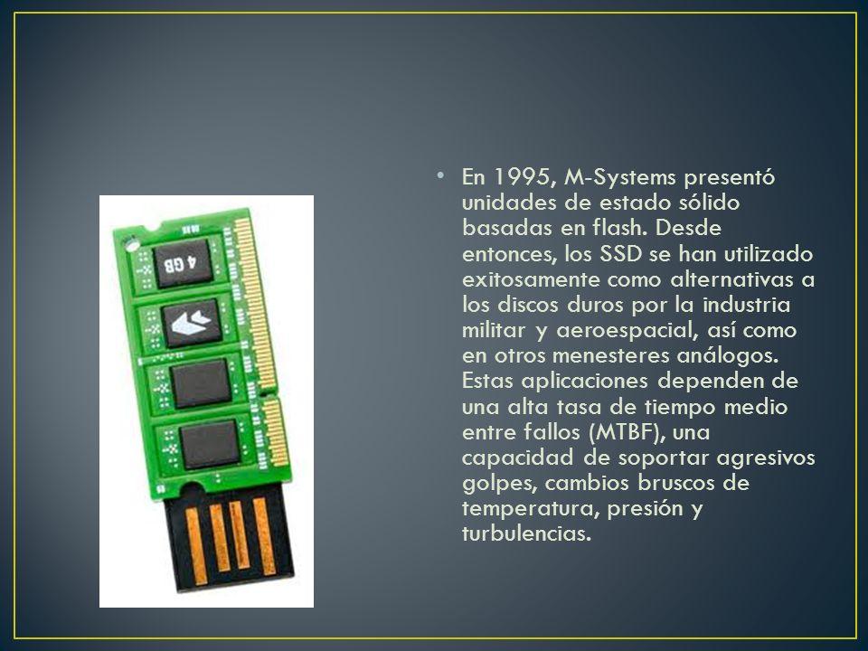 En 1995, M-Systems presentó unidades de estado sólido basadas en flash