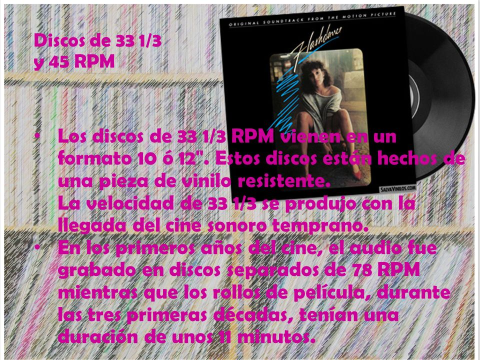 Discos de 33 1/3 y 45 RPM