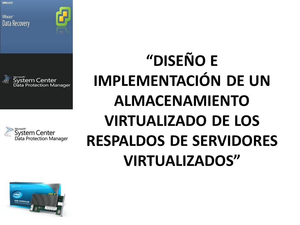 Diseño e implementación de un almacenamiento virtualizado de los Respaldos de servidores virtualizados