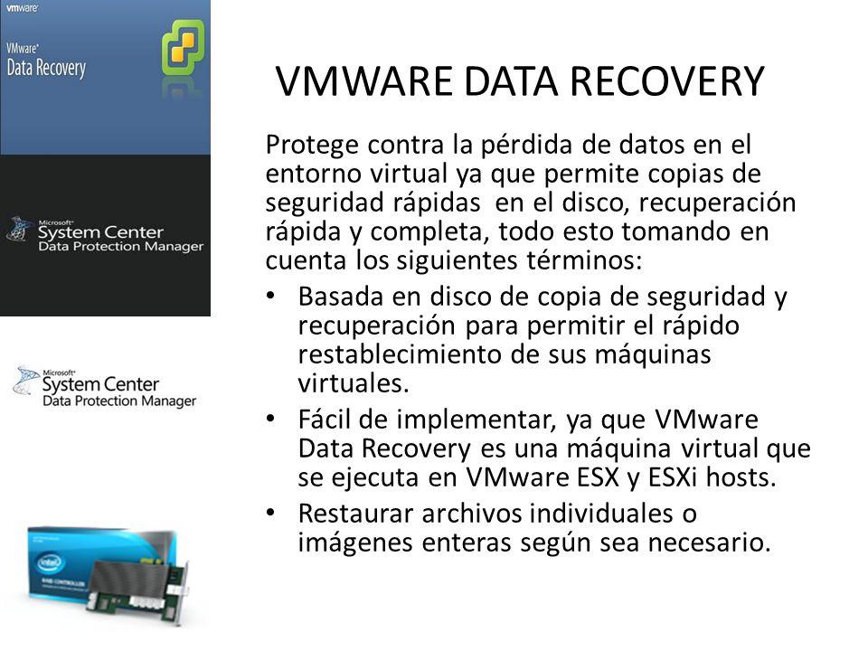 VMWARE DATA RECOVERY