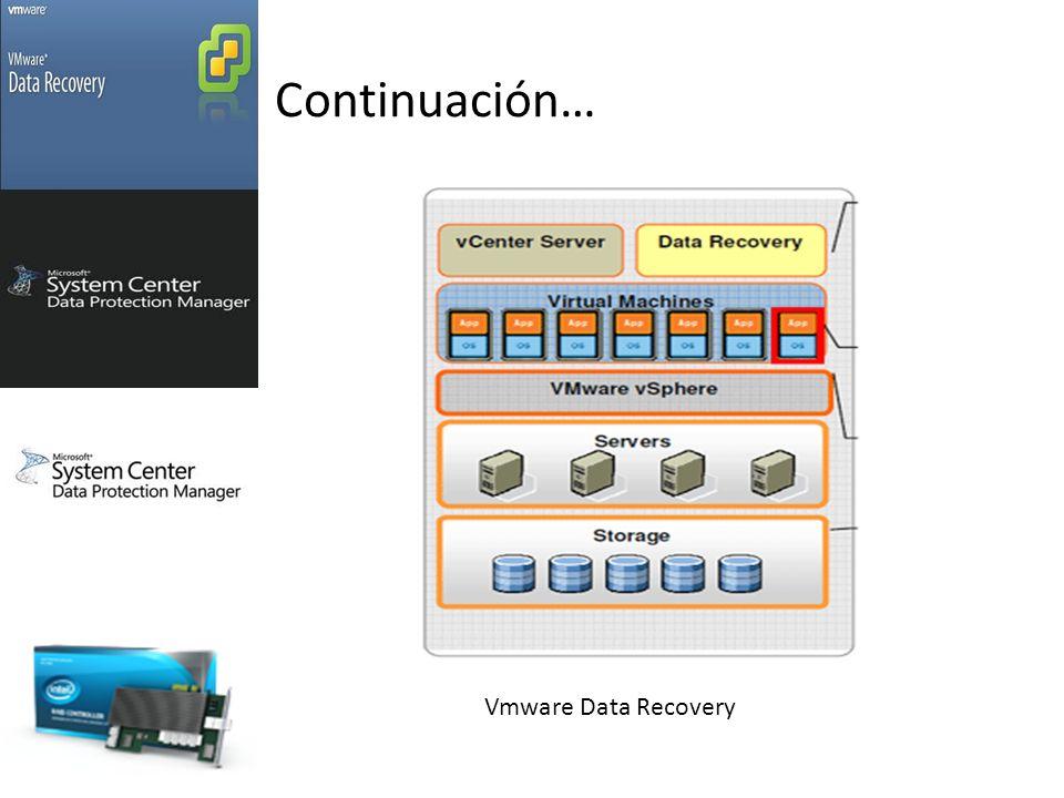 Continuación… Vmware Data Recovery