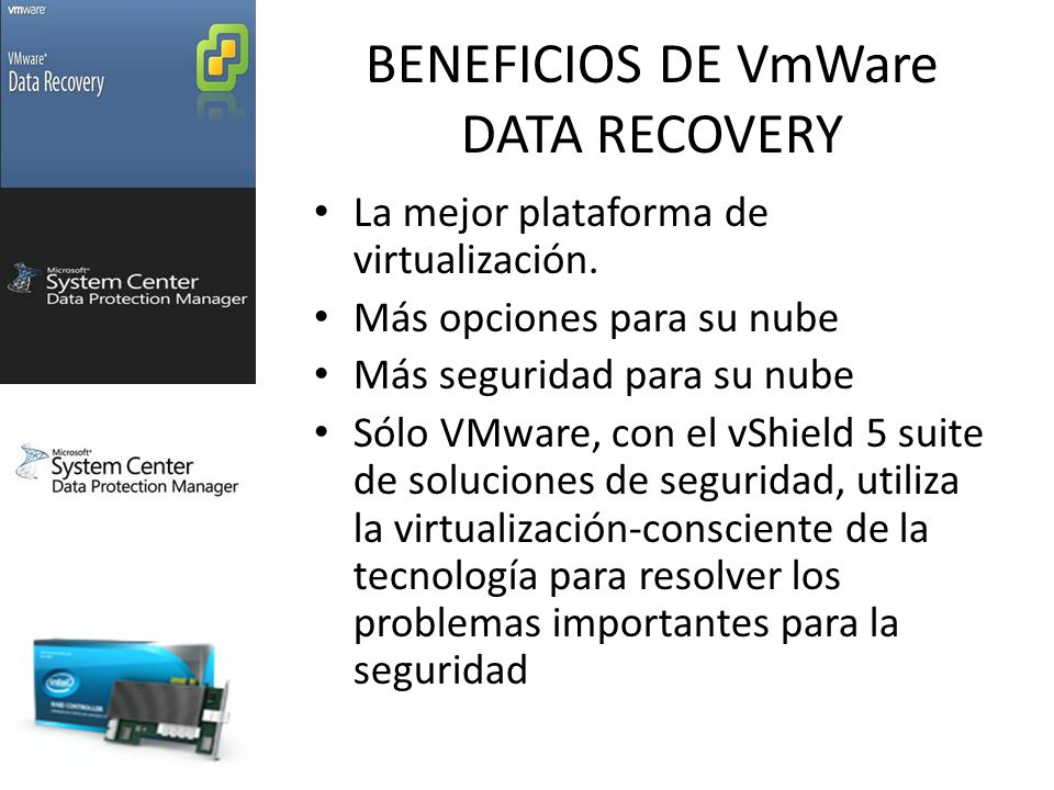 BENEFICIOS DE VmWare DATA RECOVERY