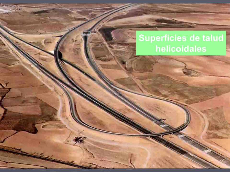 Superficies de talud helicoidales